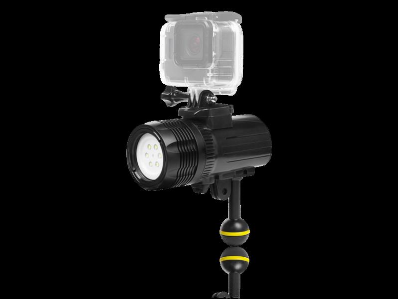 60M Vandtæt LED Dykkerlygte til GoPro & Action Kamera