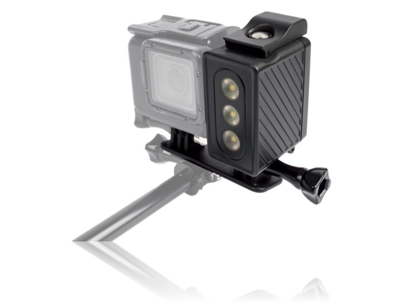 Image of   30M Vandtæt LED-lygte til GoPro