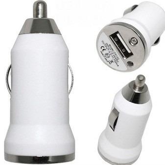 Image of   USB oplader til bil Farve - Hvid, Farve - Hvid