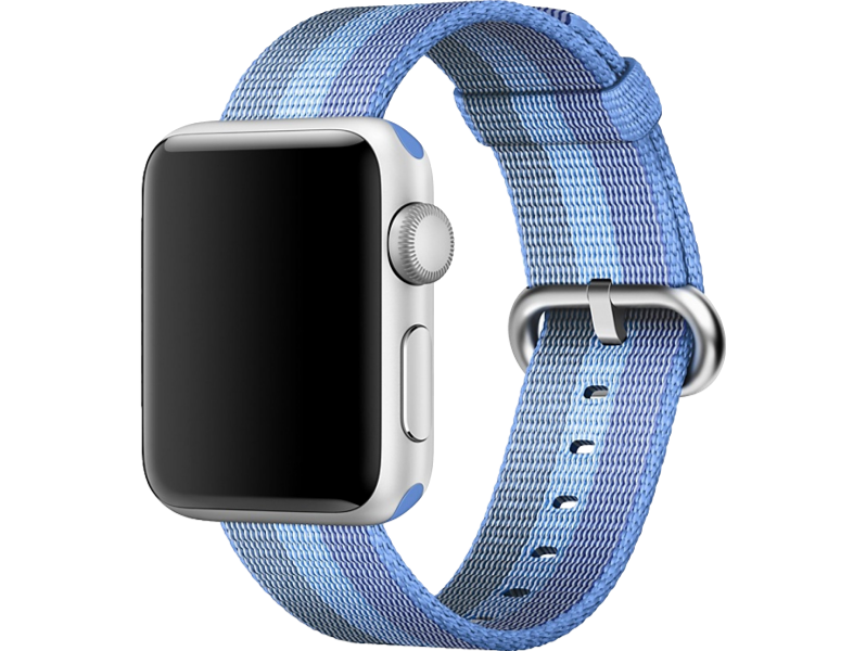 Image of   Cuneo rem i Nylon til Apple Watch 1 / 2 / 3 / 4-Lyseblå-42/44 mm