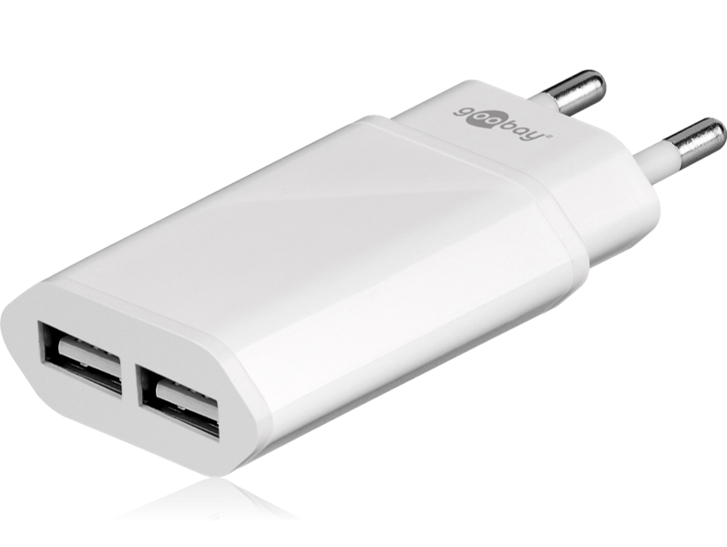 Image of   2 ports USB oplader til smartphone, tablets, iPad, Smartwatch