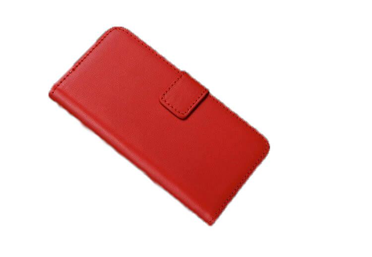 iPhone 5 / 5S læder cover med pung-Rød