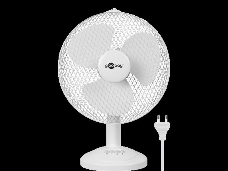 Image of   30cm Hvid Bordventilator m. Rotation