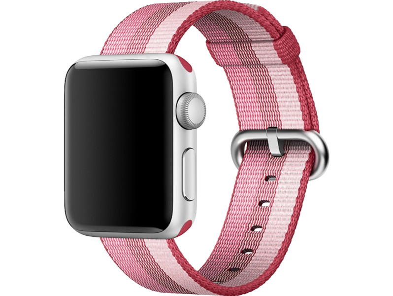 Image of   Cuneo rem i Nylon til Apple Watch-Pink-38/40 mm