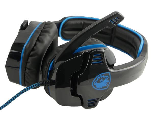 Image of   Sades Gpower 708 gamer headset - Sort/Blå