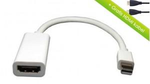 Mini displayport (thunderbolt) til HDMI adapter