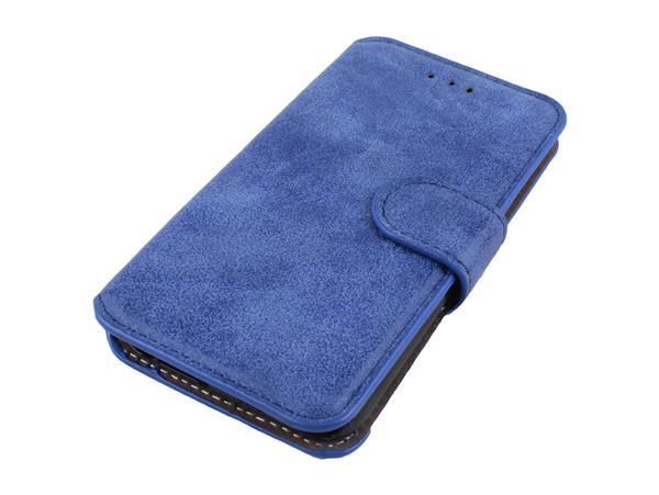 Image of   iPhone 6 / 6S Læder Flip Cover-Blå