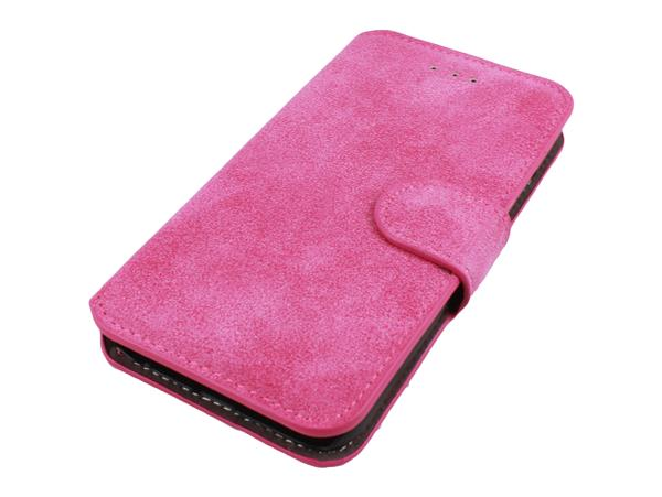 iPhone 6 / 6S Læder Flip Cover-Pink