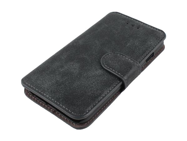 iPhone 6 / 6S Læder Flip Cover-Sort