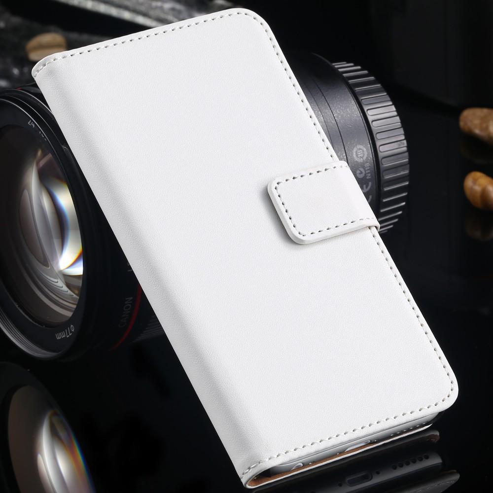 Læder Flip Cover til iPhone 6 / 6S-Hvid