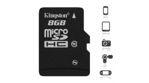 Image of   Kingston 8 GB Micro SD kort