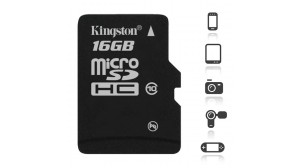 Image of   Kingston 16 GB Micro SD kort