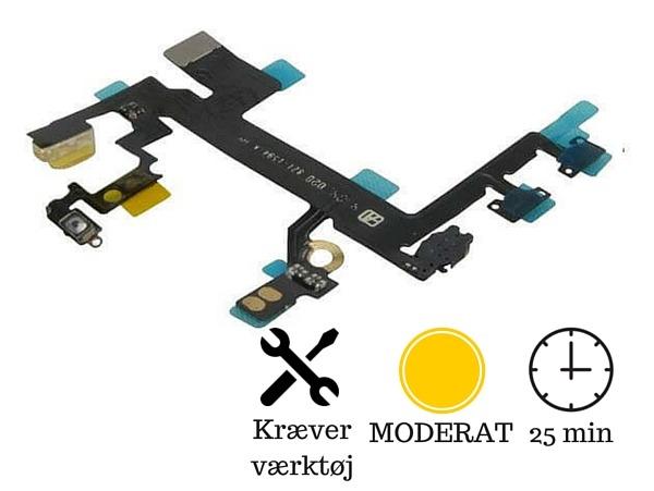 Kabel til volumeknapper og tænd/sluk knap til iPhone 5s