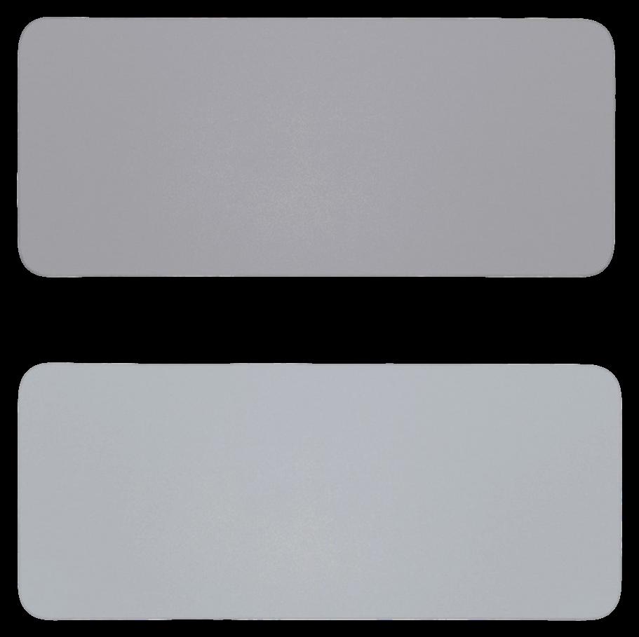 Billede af 60 x 30cm Dobbeltsidet PU Læder Musemåtte - Grå
