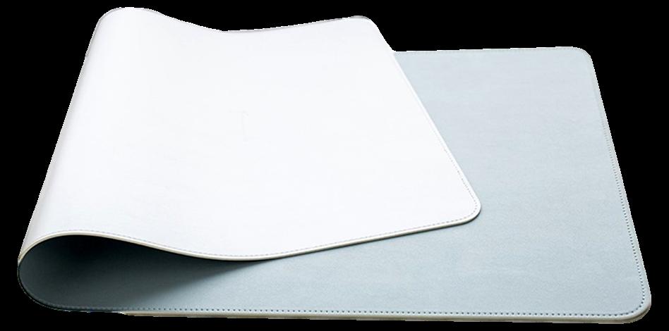 Billede af Blå / Sølv Dobbeltsidet Musemåtte i Læder-100 x 50 cm