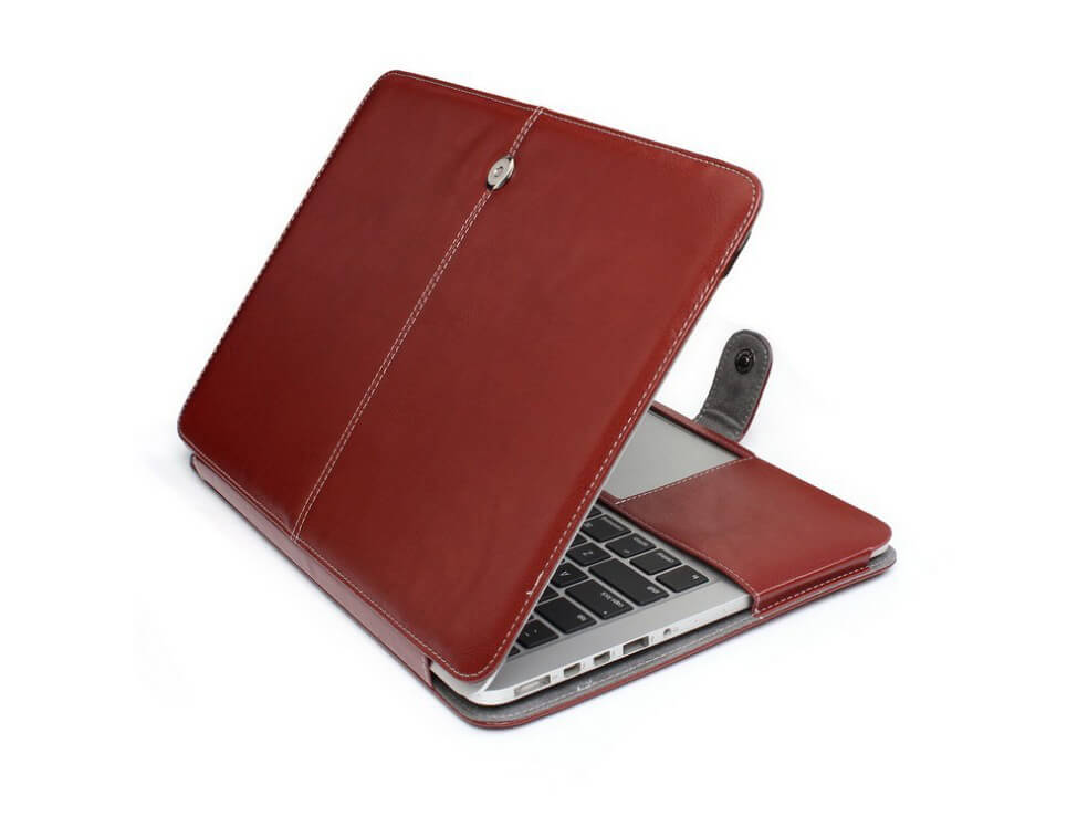 "Image of   Riga læder sleeve til Macbook Pro 15""-Brun"