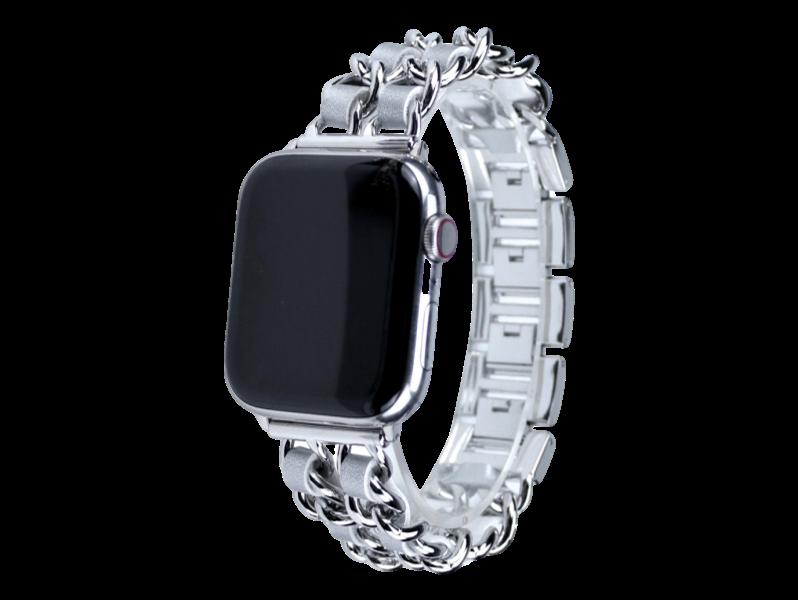Sacho rem til Apple Watch 38 mm & 40 mm-Sølv