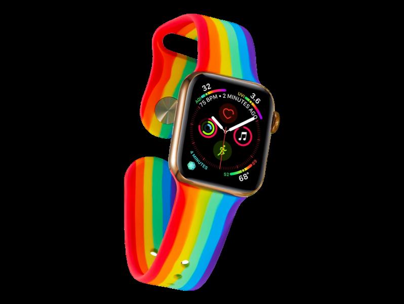 Rainbow rem Silikone til Apple Watch Series 1 / 2 / 3 / 4 / 5 38 mm & 40 mm