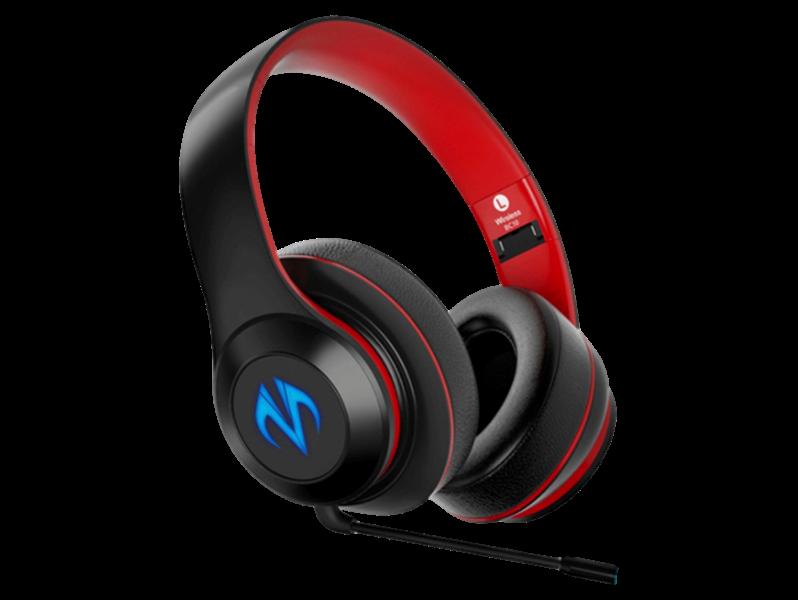 Billede af BC10 Bluetooth Gaming Headset m. LED Lys - Rødt