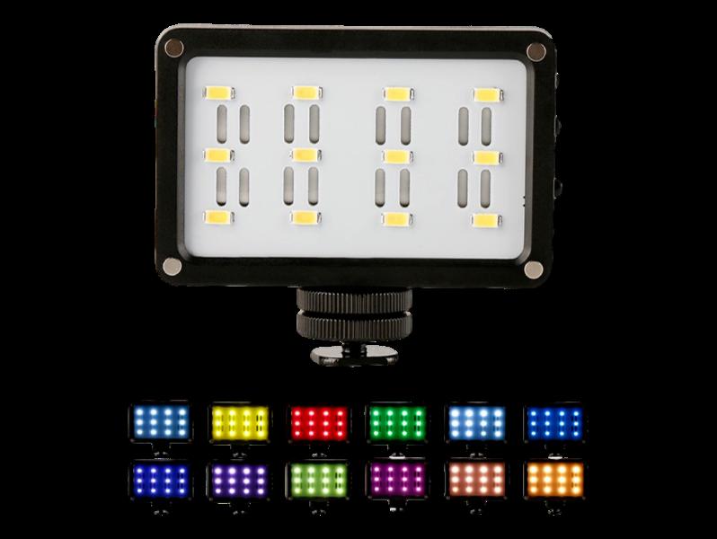 LED Lygte  m/ 12 Farver