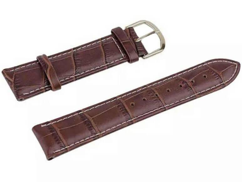 Billede af Brun Apple Watch rem i genuine læder - 38mm