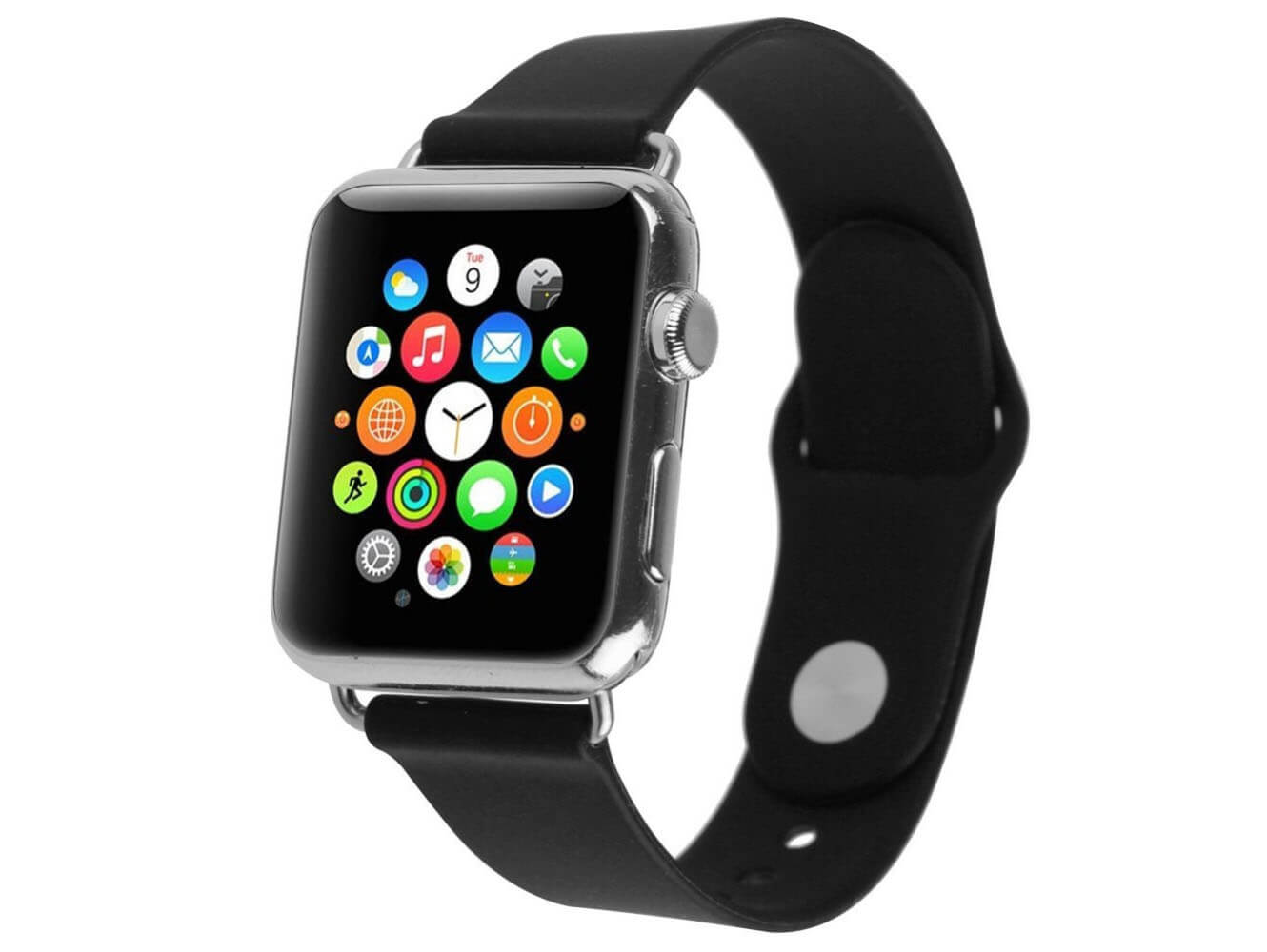 Apple Watch rem til løb, sport og fitness-Sort-38 mm