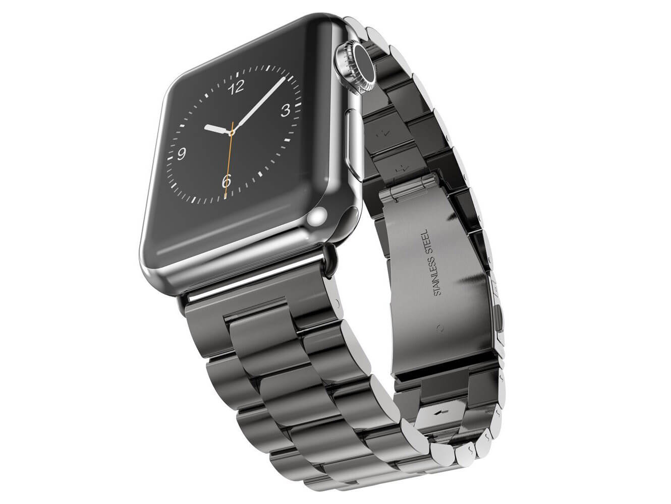 Image of   Sort Apple Watch urlænke i rustfrit stål - 38mm