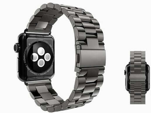 Image of   Sort Apple Watch urlænke i rustfrit stål - 42mm
