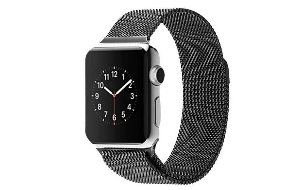Sort Apple Watch Mesh urlænke i rustfrit stål – 38mm