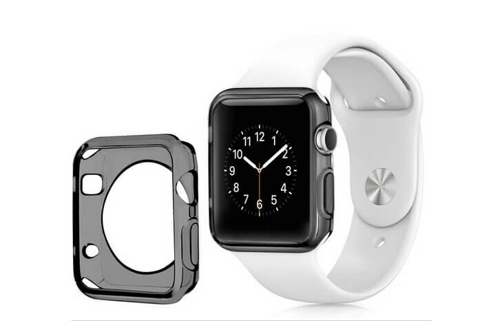 Billede af Gråt Apple Watch cover i TPU - 38mm