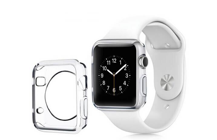 Billede af Gennemsigtig Apple Watch cover i TPU plastik - 42mm