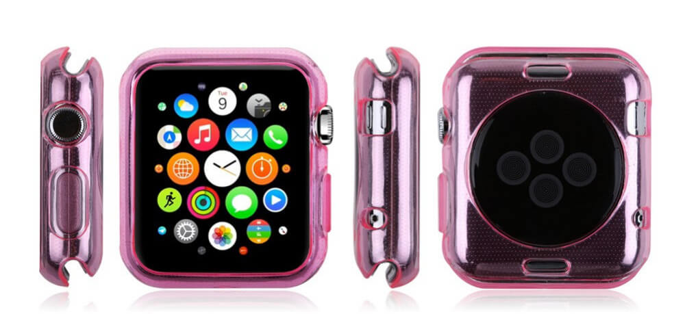 Billede af Pink Apple Watch cover i TPU - 42mm