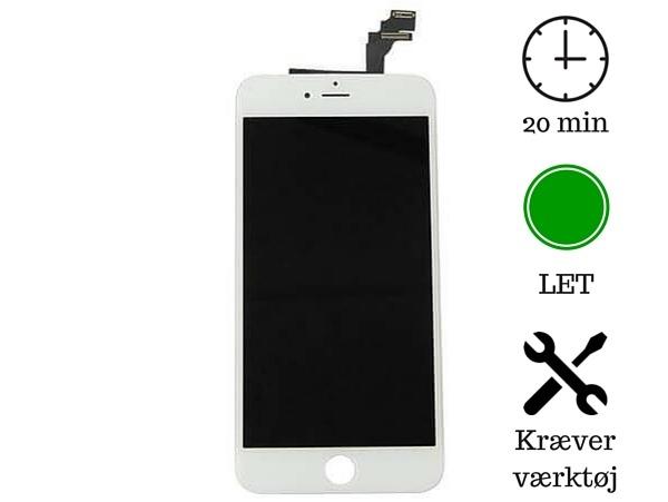 Image of   Skærm til iPhone 6 PLUS-Hvid