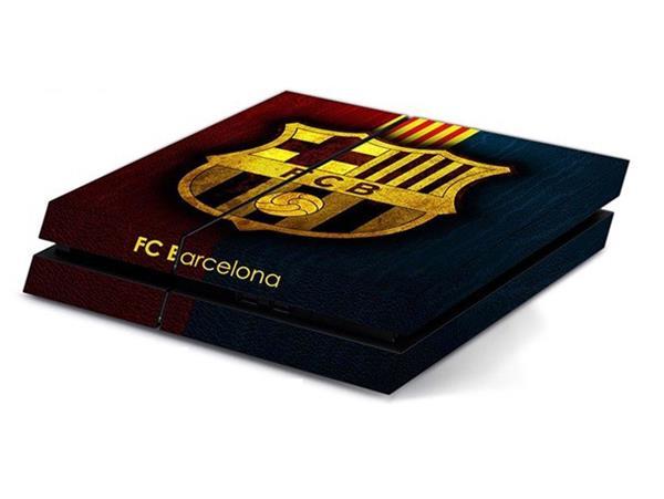 Image of   FC Barcelona Sort skin til Playstation 4