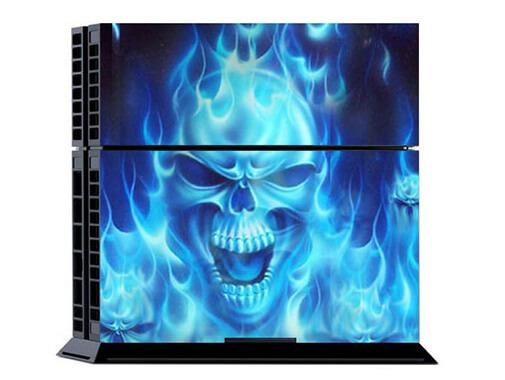 Blue Skull Skin til Playstation 4
