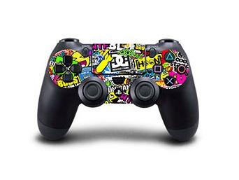 Image of   Skin til Playstation 4 controller - Stickerbomb