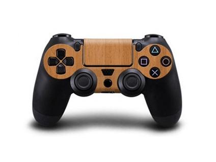 Træ / Wood Skin til PS4 Controller