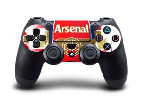 Image of   Arsenal: Stribet Skin til Playstation 4 controller