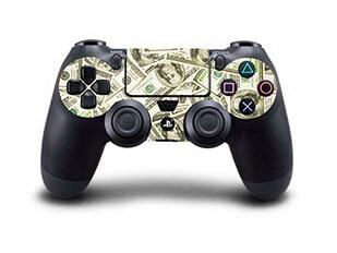 Image of   Dollarsedler Skin til Playstation 4 controller
