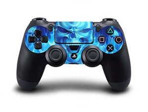 Image of   Blue Skull Skin til Playstation 4 controller