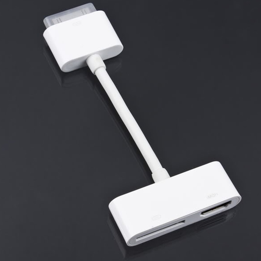 iPad / iPhone til HDMI adapter - inkl 30-pin adapter