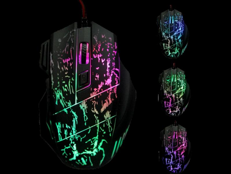 Fraxinus USB Gamer Mus med LED