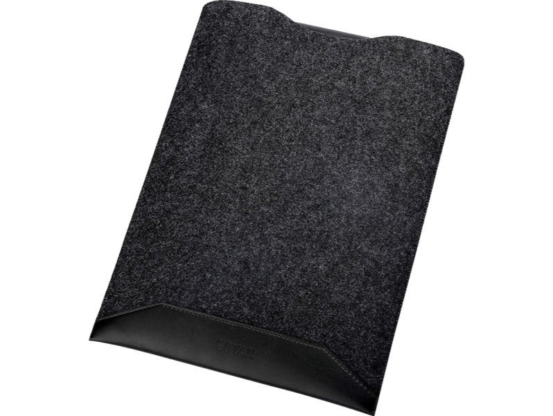 "Image of   Callander uld/læder sleeve til MacBook 13"" / bærbar 13""-Sort"