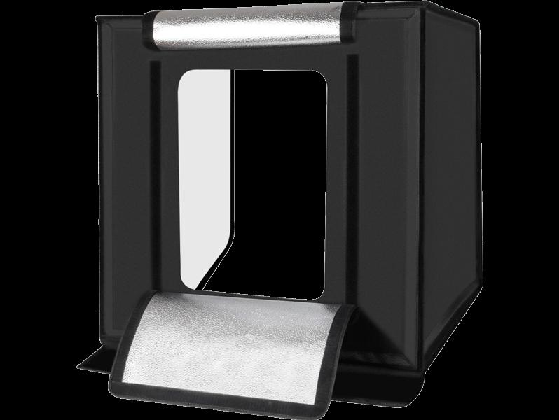 Image of   Fotoboks / Mini Fotostudie m. LED og indbygget lysreflektor