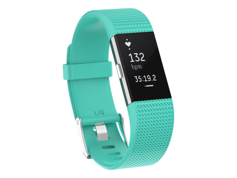 Silicone rem til Fitbit Charge 2-Turkis-Large