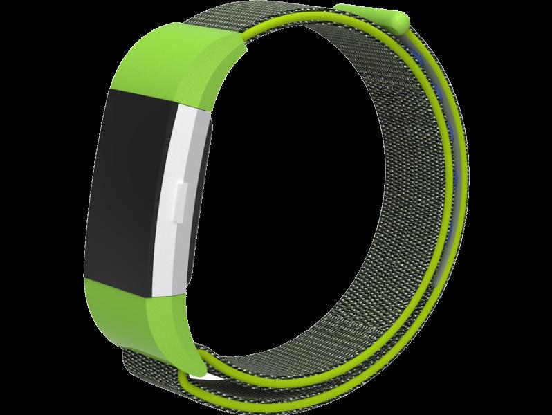 Velcro nylon rem til Fitbit Charge 2-Grøn