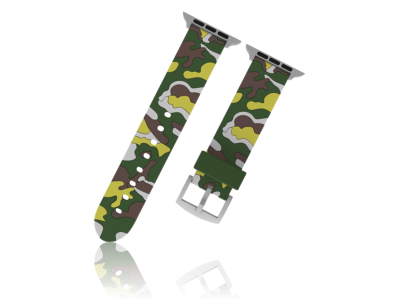 Image of   Camouflage rem i Silicone til Apple Watch 1 / 2 / 3 / 4 / 5 42mm & 44mm