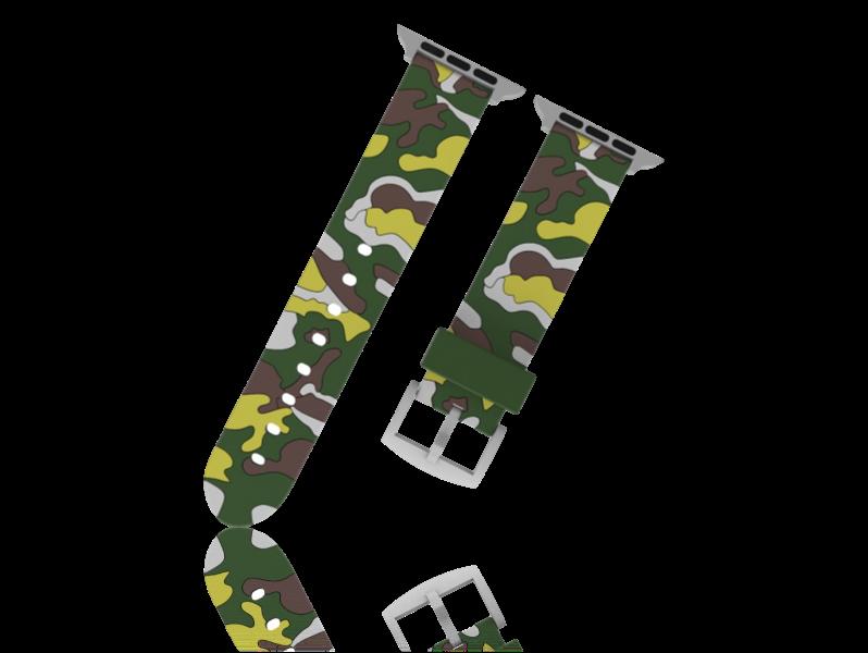 Image of   Camouflage rem i Silicone til Apple Watch 1 / 2 / 3 / 4 / 5 42mm & 44mm