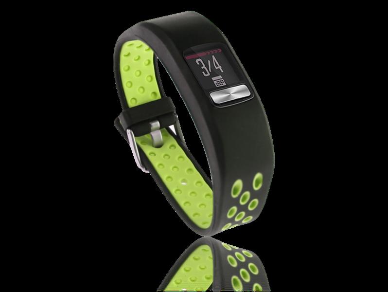 Image of   Tofarvet silicone rem til Garmin Vivofit 4-Grøn