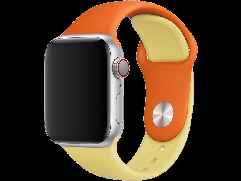 Tofarvet Silicone rem til Apple Watch 5 - 40mm